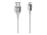 Belkin MIXIT DuraTek Lightning to USB Cable - Cable Lightning - USB (M) a Lightning (M) - 1.22 m - blindado - plata - para Apple iPad/iPhone/iPod (Lightning) F8J207BT04-SLV