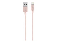 Belkin MIXIT metálico Lightning to USB Cable - Cable Lightning - USB (M) a Lightning (M) - 1.2 m - oro rosa - para Apple iPad/iPhone/iPod (Lightning) F8J144BT04-C00