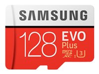 Samsung EVO Plus MB-MC128G - Tarjeta de memoria flash (adaptador microSDXC a SD Incluido) - 128 GB - UHS-I U3 / Class10 - microSDXC UHS-I MB-MC128GA/EU