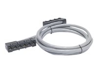 APC Data Distribution Cable - Cable de red - RJ-45 (H) a RJ-45 (H) - 2.1 m - UTP - CAT 5e - elevador - gris DDCC5E-007