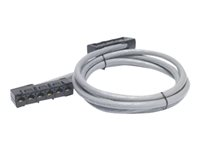 APC Data Distribution Cable - Cable de red - RJ-45 (H) a RJ-45 (H) - 2.7 m - UTP - CAT 5e - elevador - gris DDCC5E-009